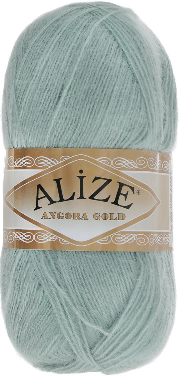 """Пряжа для вязания Alize """"Angora Gold"""", цвет: светло-бирюзовый (515), 550 м, 100 г, 5 шт"""