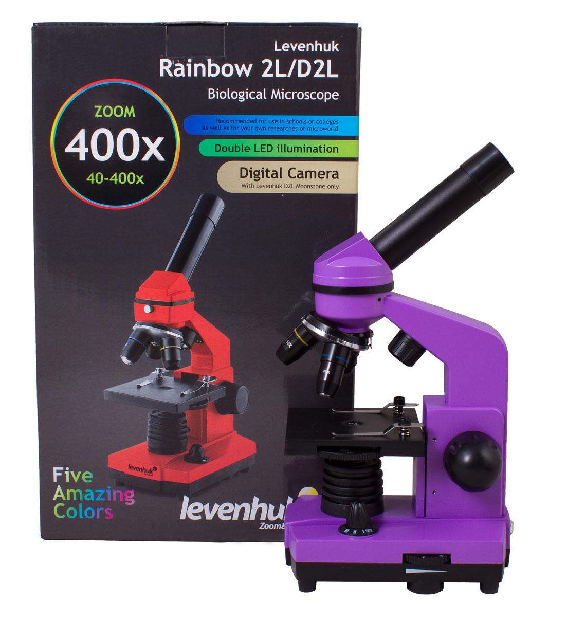 Levenhuk Rainbow 2L, Amethystмикроскоп Levenhuk