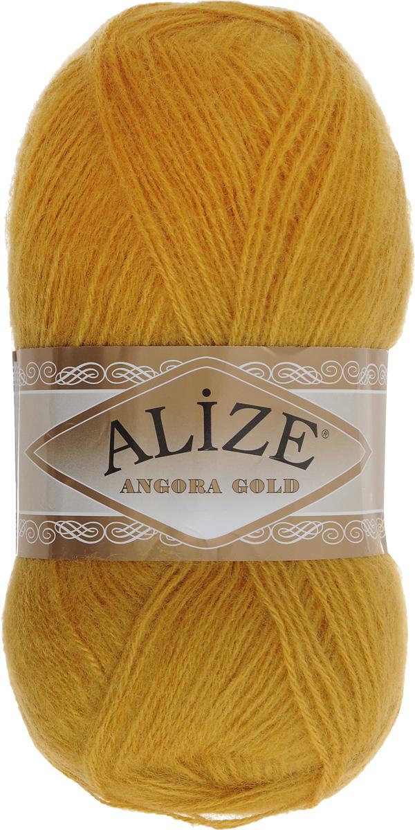 """Пряжа для вязания Alize """"Angora Gold"""", цвет: золотой (02), 550 м, 100 г, 5 шт"""