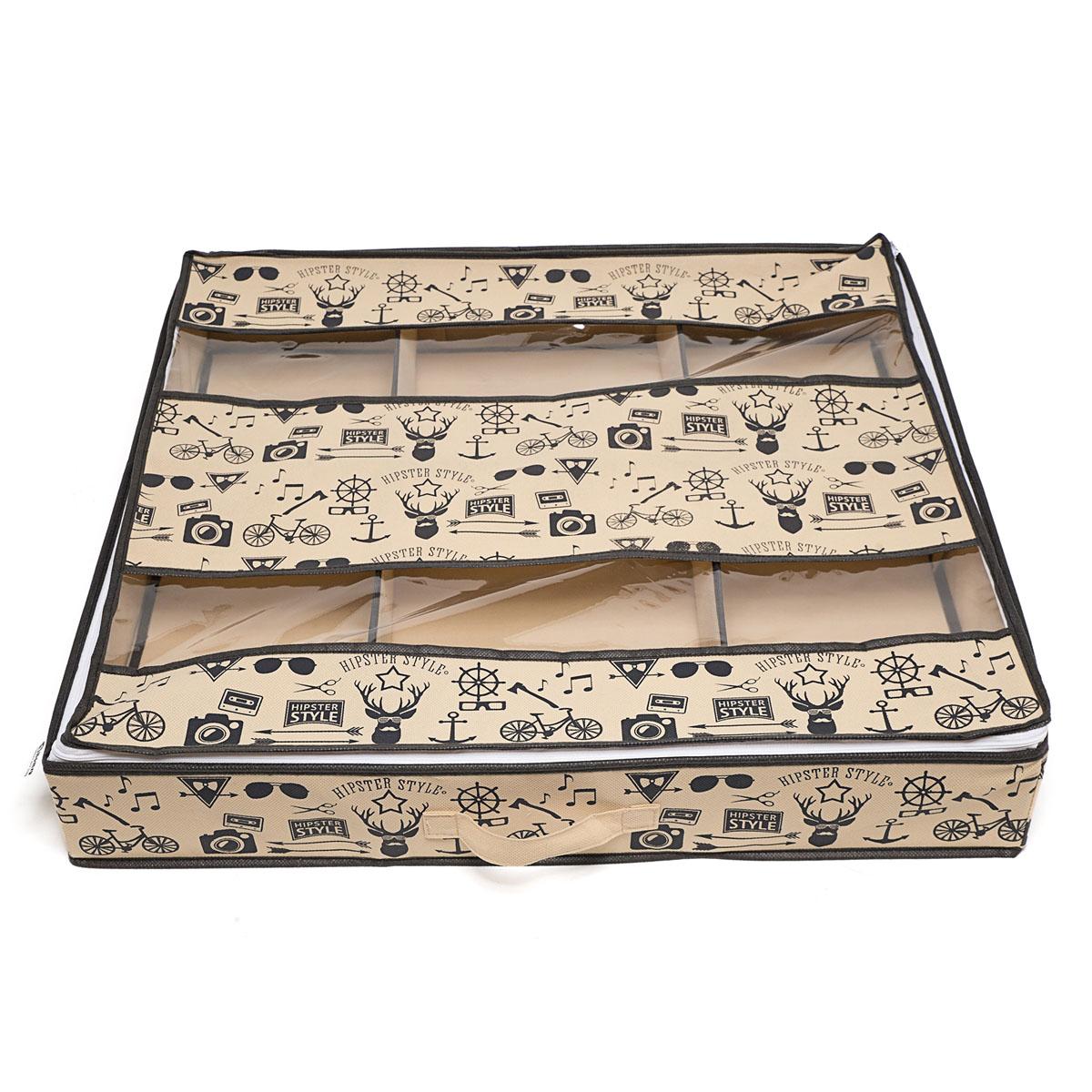 Органайзер для хранения обуви Hipster Style, 6 секций, 66 х 63 х 11 см органайзер для хранения обуви homsu bora bora 52 х 26 х 12 см