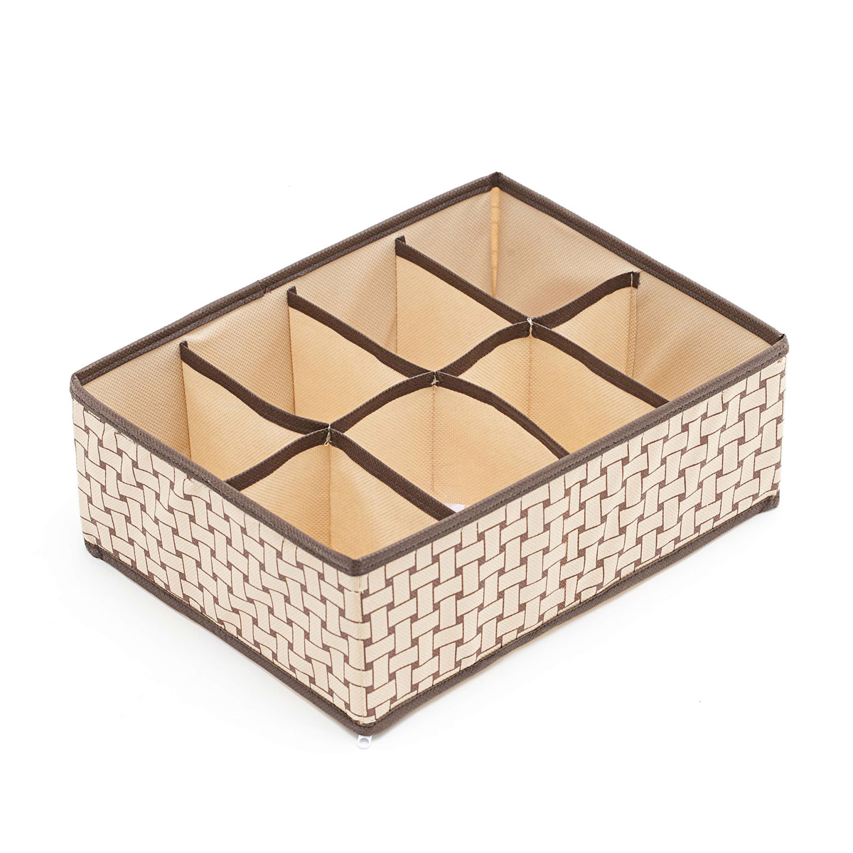 Органайзер для хранения вещей Homsu Pletenka, цвет: бежевый, коричневый, 8 секций, 31 х 24 х 11 см органайзер для хранения обуви homsu pletenka 6 секций 66 х 63 х 11 см