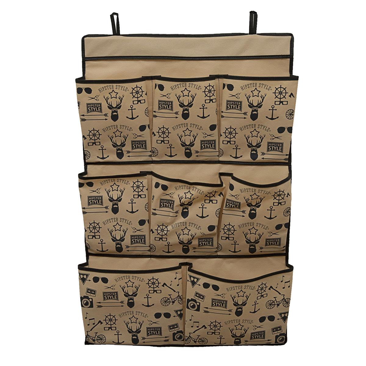 Органайзер для хранения вещей Homsu Hipster Style, подвесной, 75 х 50 х 5 см органайзер для хранения вещей homsu ocean 22 секции 30 х 30 х 11 см
