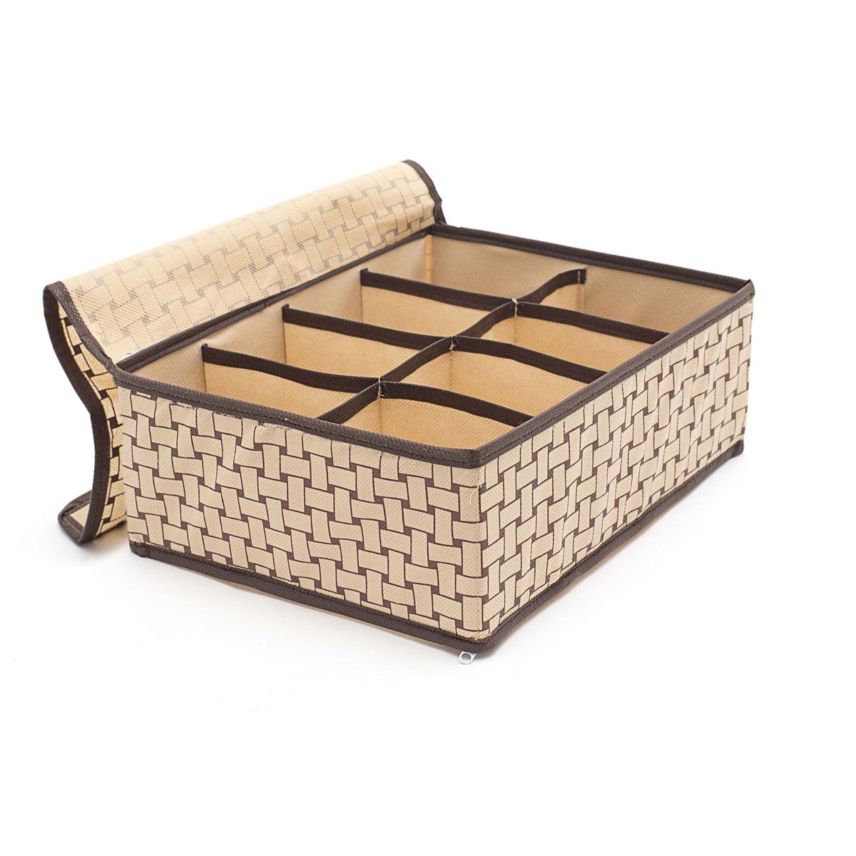 Органайзер для хранения вещей Homsu Pletenka, с крышкой, 8 секций, 31 х 24 х 11 см органайзер для хранения обуви homsu pletenka 6 секций 66 х 63 х 11 см