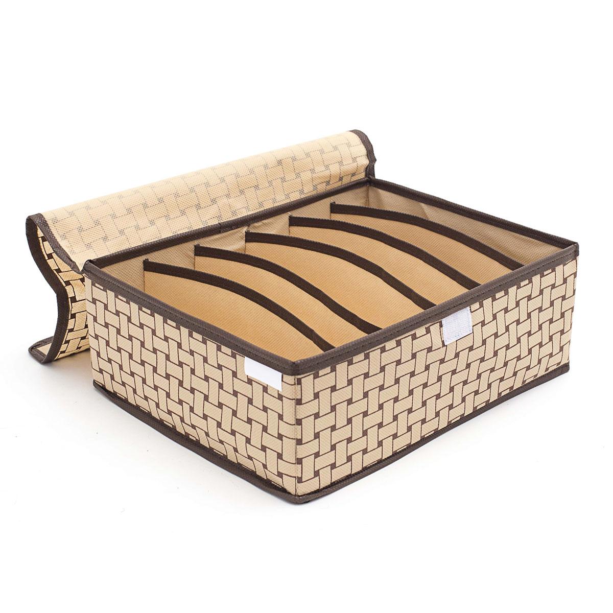 Органайзер для хранения вещей Homsu Pletenka, с крышкой, 6 секций, 31 х 24 х 11 см органайзер для хранения обуви homsu pletenka 6 секций 66 х 63 х 11 см