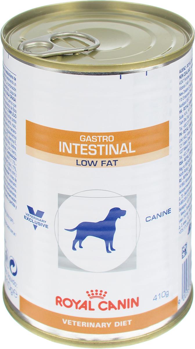 Консервы для собак Royal Canin Gastro Intestinal Low Fat, при нарушении пищеварения, c пониженным содержанием жира, 410 г консервы для собак royal canin gastro intestinal low fat при нарушении пищеварения c пониженным содержанием жира 410 г 12 шт