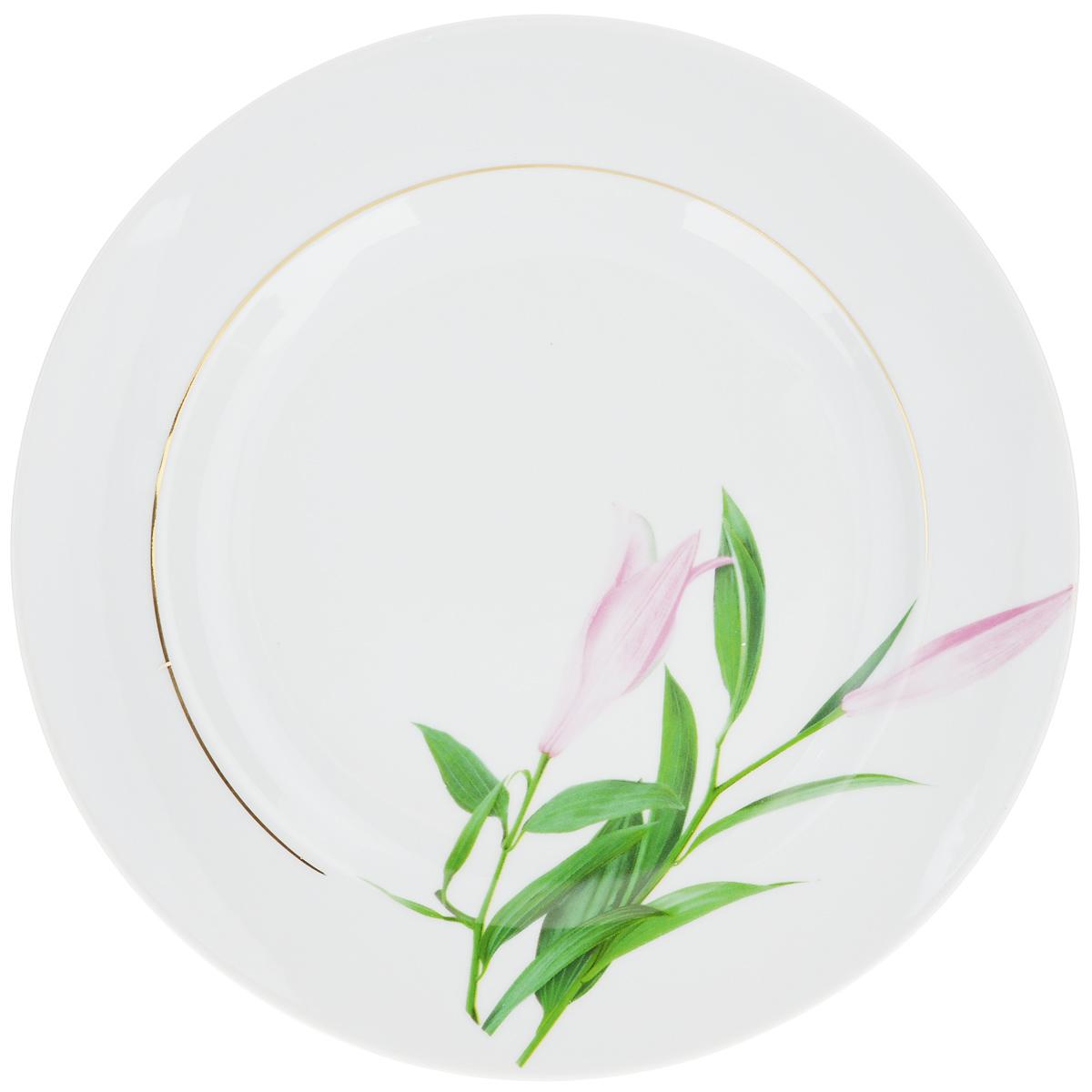 Тарелка Идиллия. Бутон, диаметр 24 см тарелка мелкая идиллия ромашка диаметр 20 см 5с0189