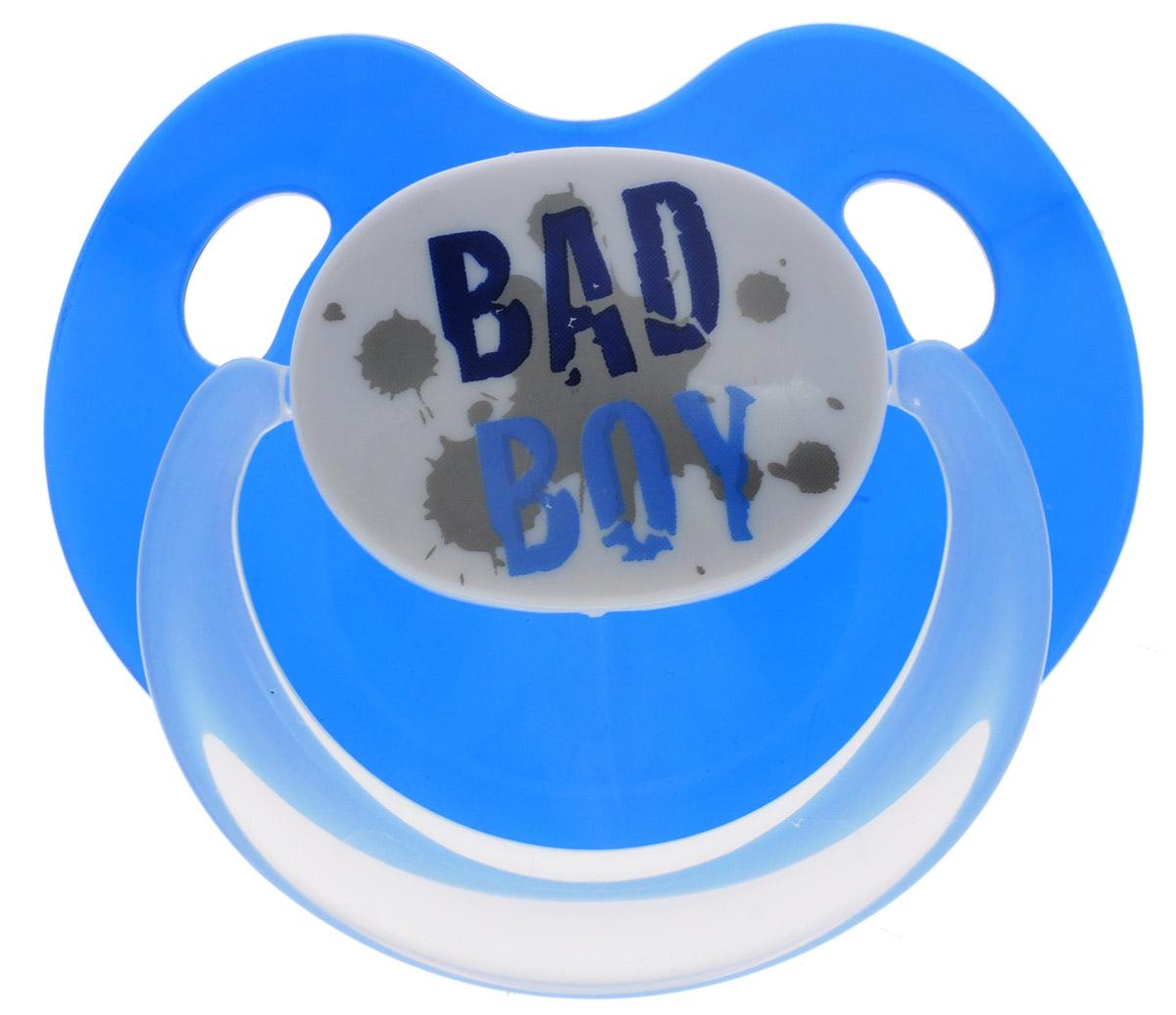Bibi Пустышка силиконовая Bad Boy от 16 месяцев bibi пустышка ортодонтическая дневная я люблю россию от 0 до 6 месяцев цвет сиреневый