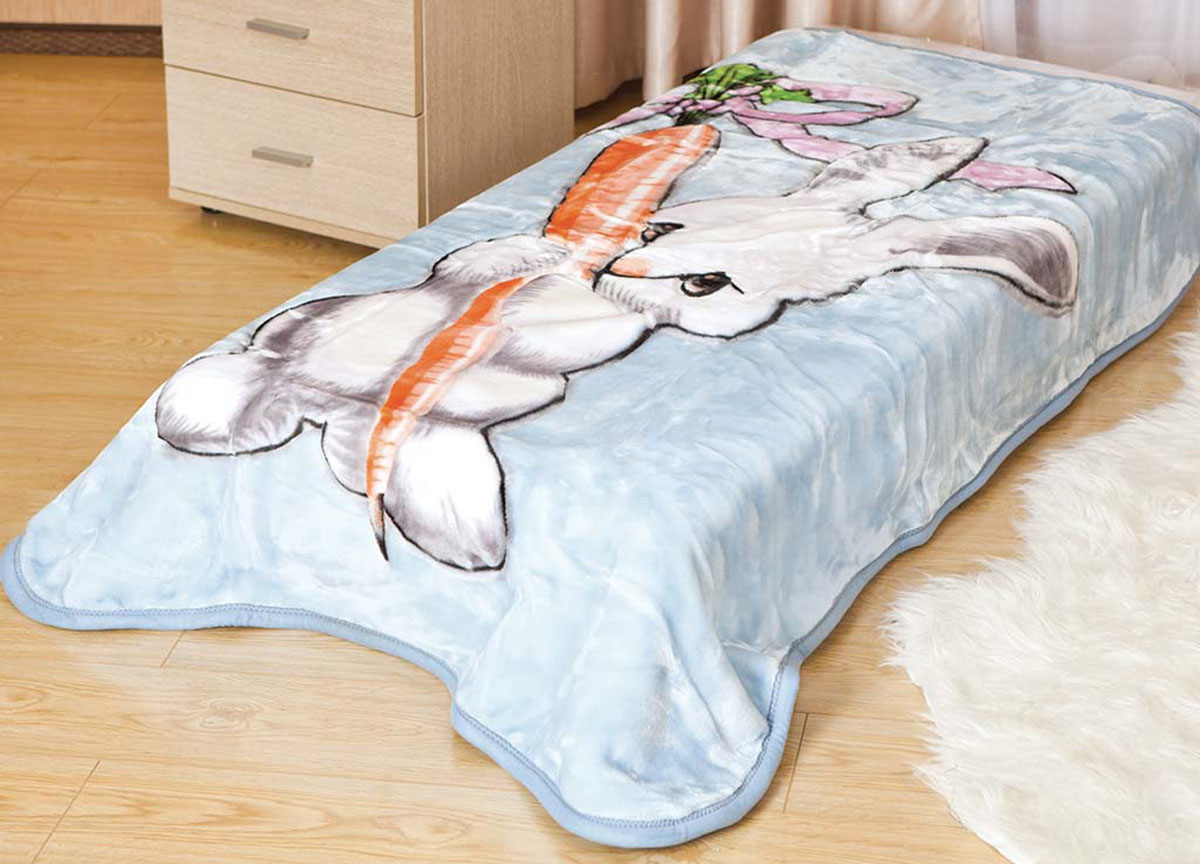 Плед ТД Текстиль Tamerlan, нестриженый, цвет: голубой, 110 х 140 см. 61312 плед tamerlan плед payton 150х200 см