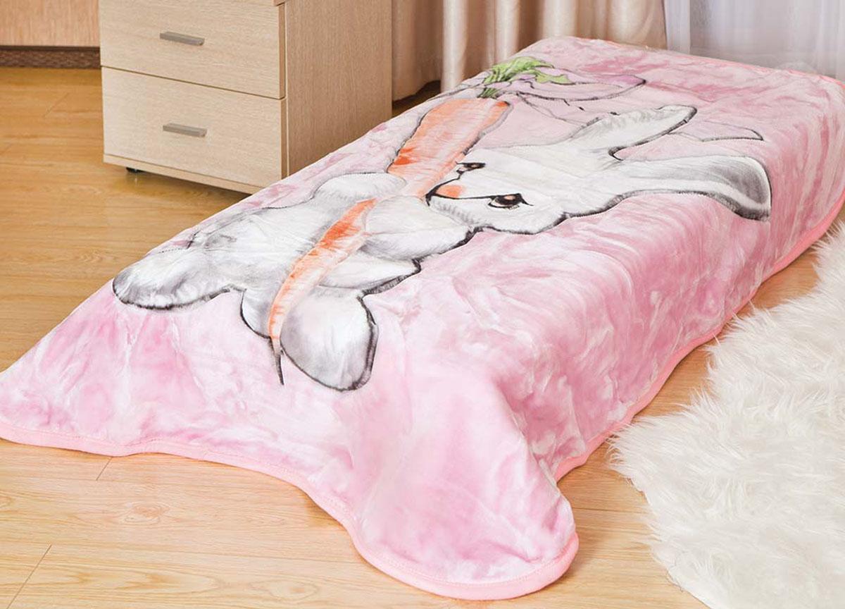 Плед ТД Текстиль Tamerlan, нестриженый, цвет: розовый, 110 х 140 см. 61313 плед tamerlan плед payton 150х200 см