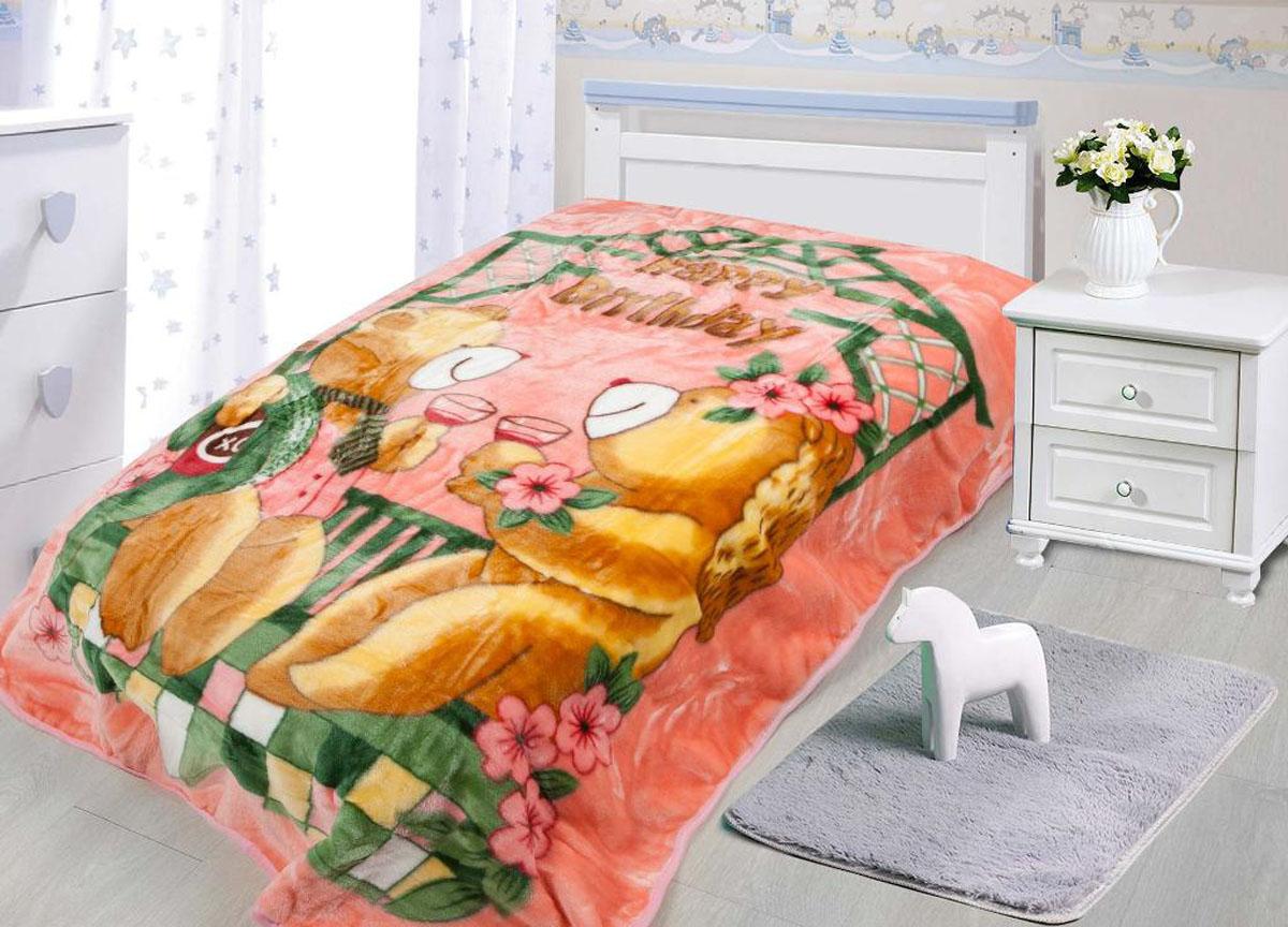 "Плед ""Tamerlan"", нестриженый, цвет: розовый, 110 х 140 см. 78137"