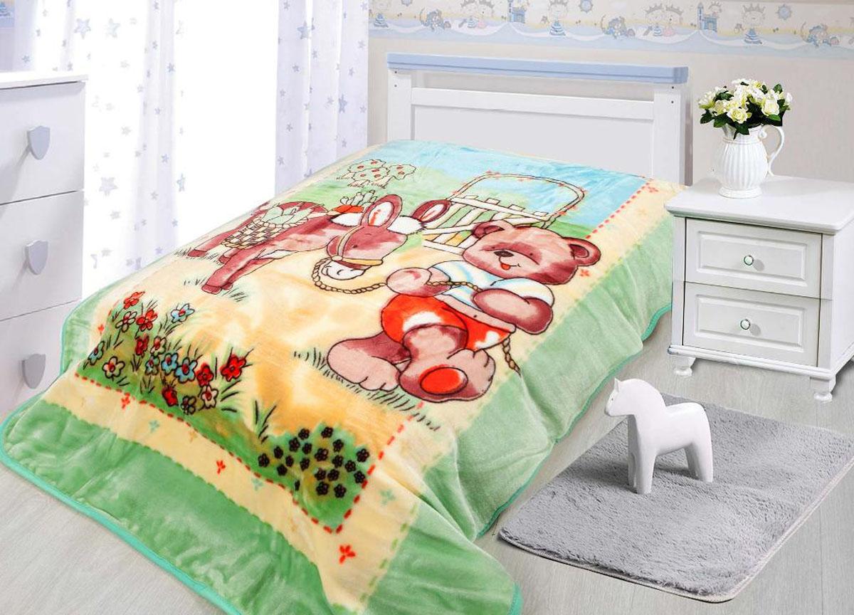 Плед ТД Текстиль Tamerlan, нестриженый, цвет: зеленый, 110 х 140 см. 78140 плед tamerlan плед payton 150х200 см