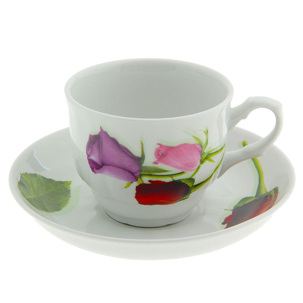Чайная пара Тюльпан. Королева цветов, 2 предмета чайная пара кирмаш белье 2 предмета