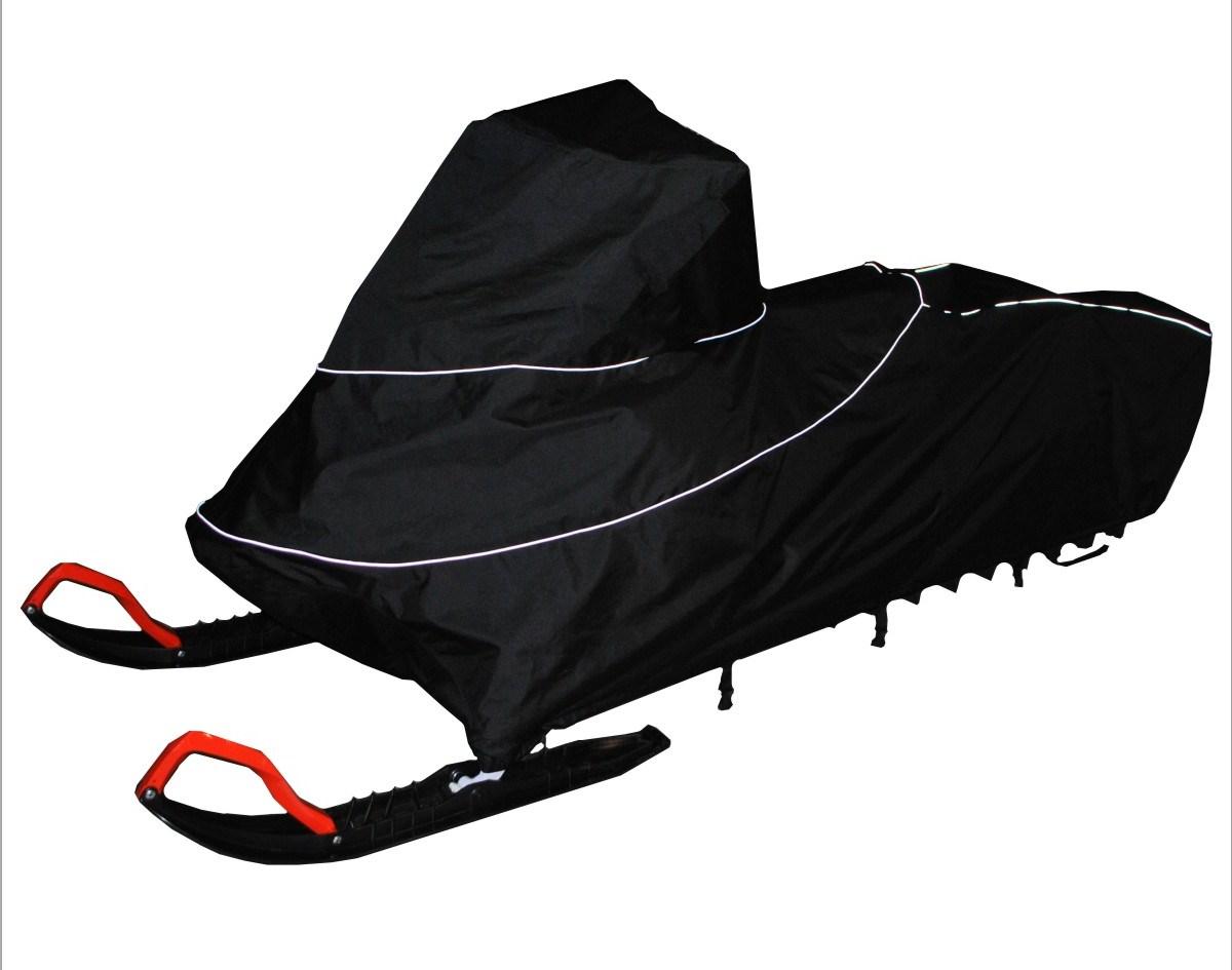 Чехол транспортировочный AG-brand для снегохода Ski-Doo Summit 154, цвет: черный, желтый