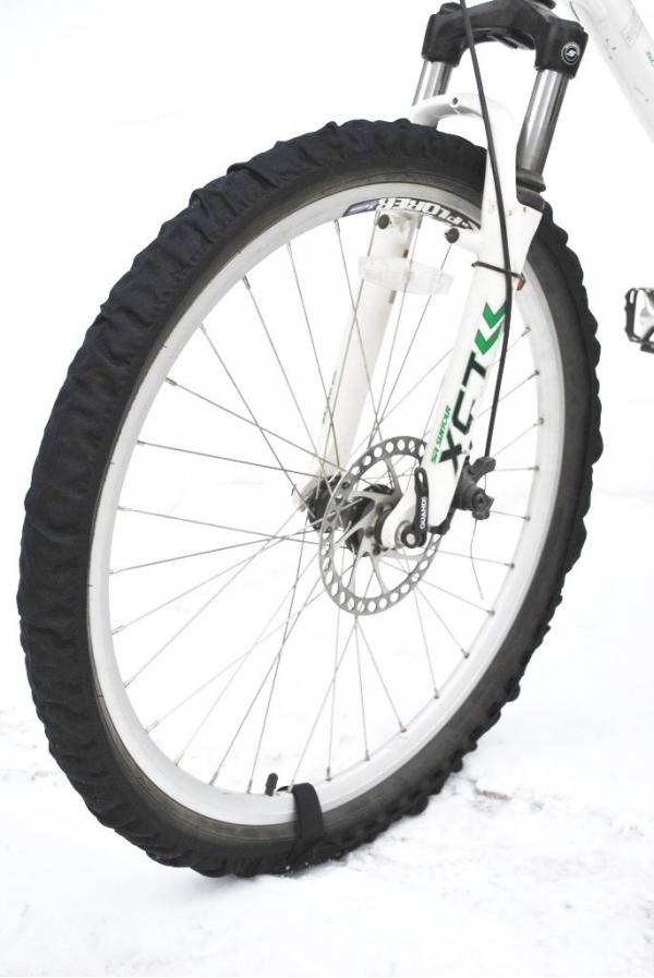 Велотапки AG-brand, цвет: черный, 2 шт. Размер 26-29