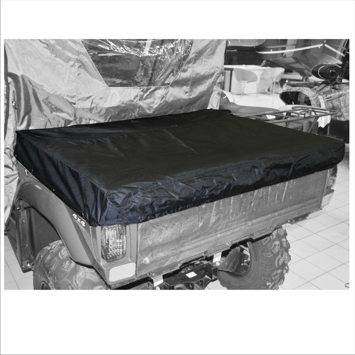 Тент AG-brand, на кузов UTV Yamaha Rhino 700, цвет: черный. AG-YAM-UTV-Rh700-CB