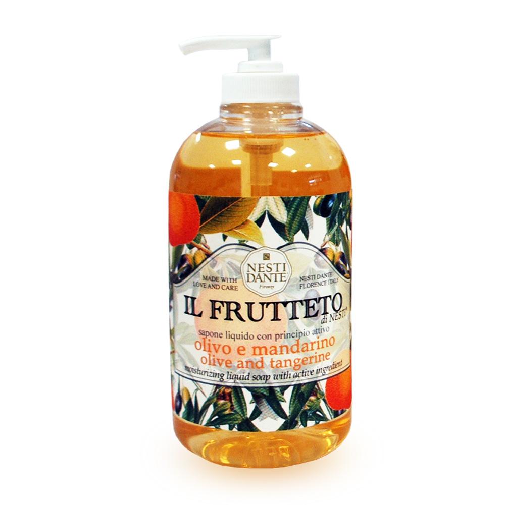 Nesti Dante Жидккое мыло для рук Il Frutteto. Оливковое масло и мандарин, 500 мл nesti dante мыло marsiglia toscano мучо бьянко 200 г