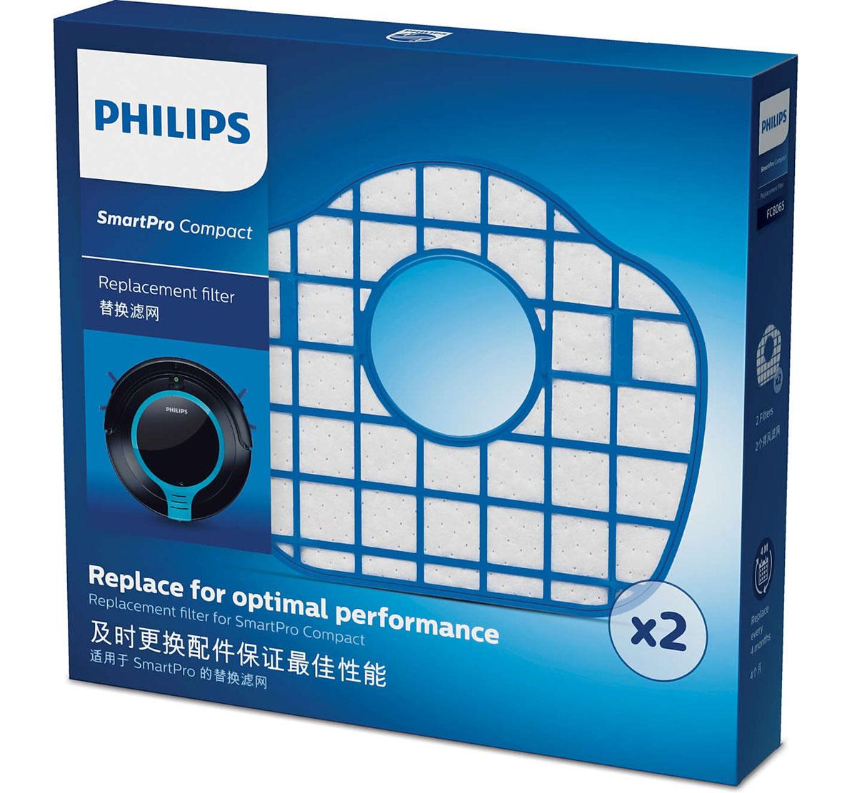 Philips FC8065/01 набор аксессуаров для робот-пылесосов SmartPro Compact philips fc8065 01 набор аксессуаров для робот пылесосов smartpro compact