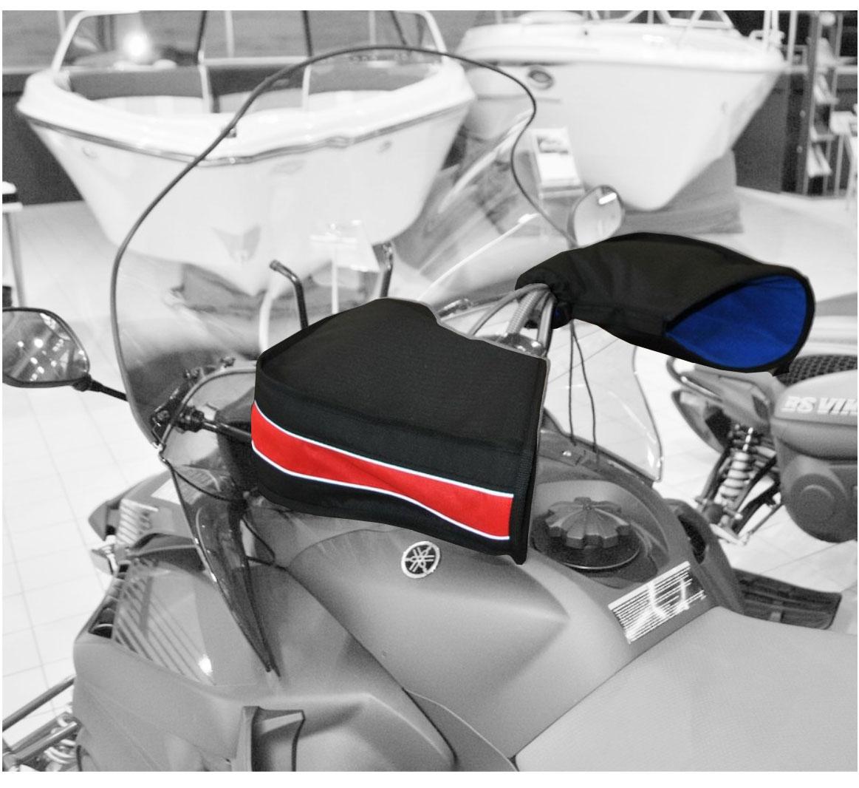 Рукавицы универсальные AG-brand, для снегохода и квадроцикла, цвет: черный, красный. AG-Uni-ATV/SMB-Mittens-BL/R