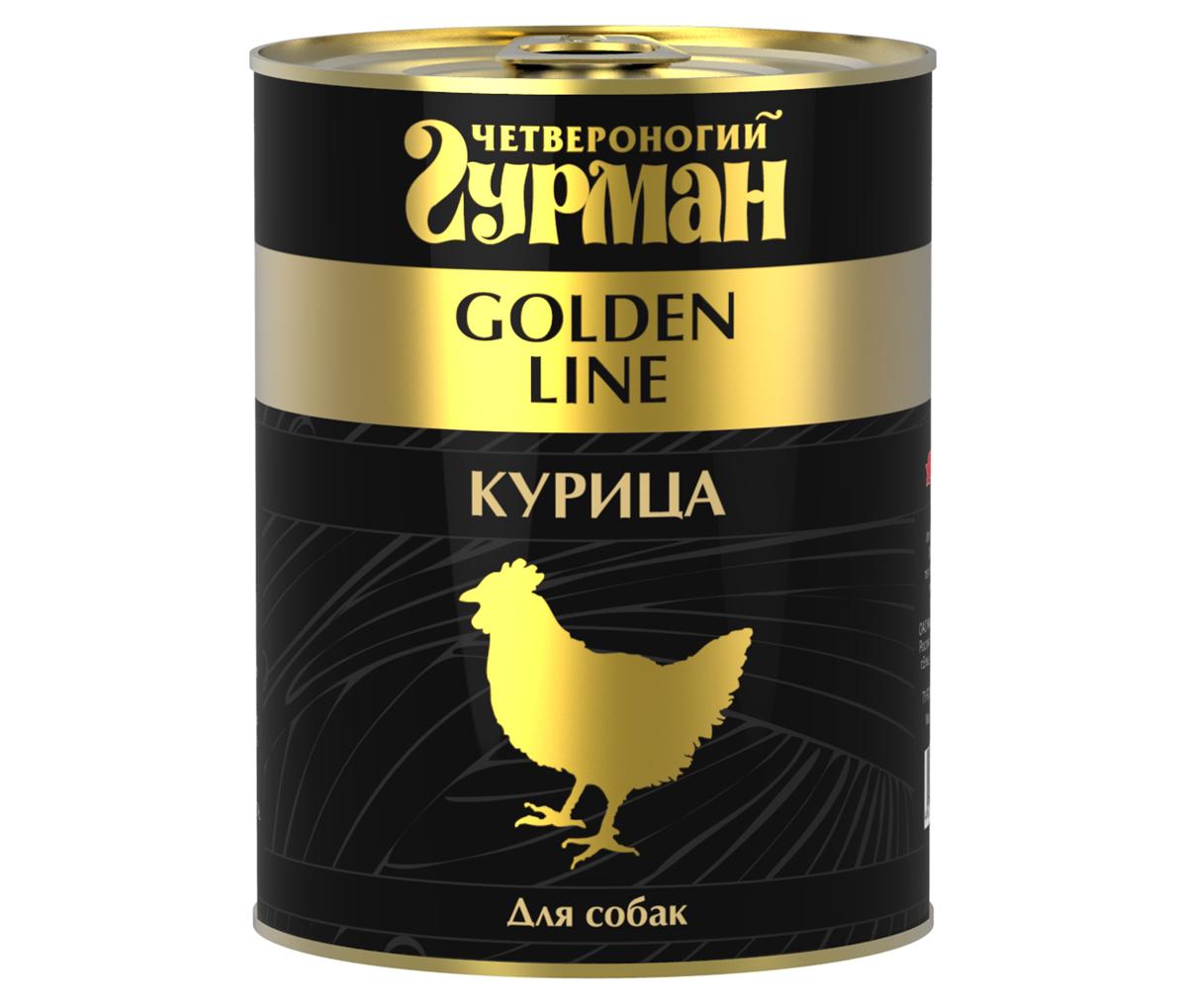 Консервы для собак Четвероногий Гурман, с курицей, 340 г консервы четвероногий гурман для молодых хорьков с цыпленком и телятиной в желе 100 г