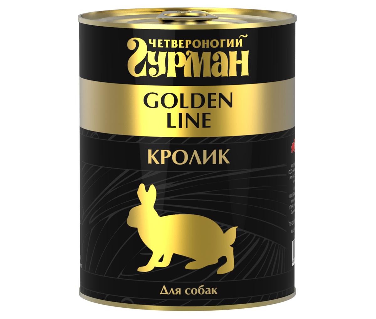 """Консервы для собак """"Четвероногий Гурман"""", с кроликом, 340 г"""