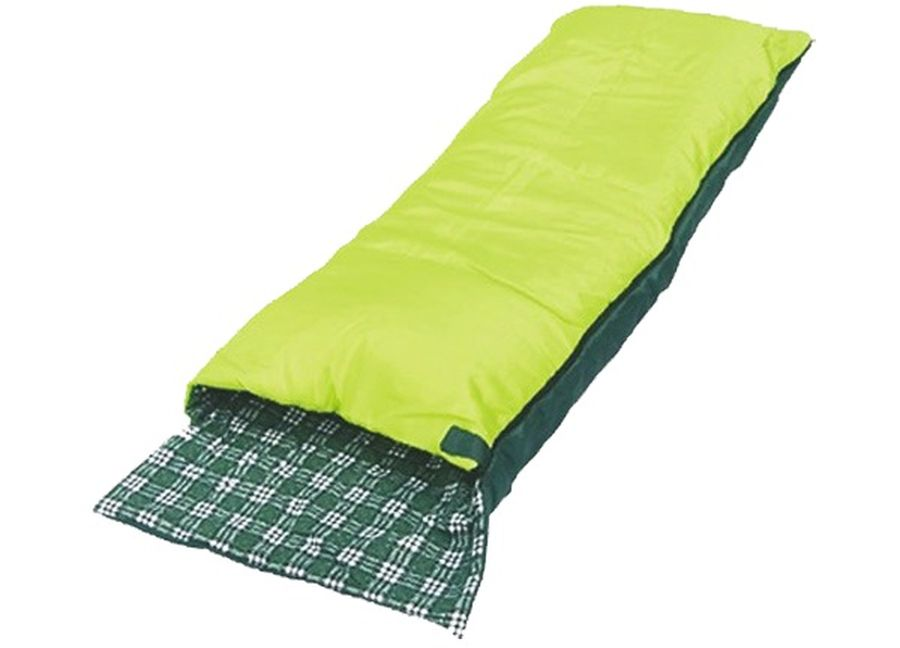 Спальный мешок-одеяло Чайка SOFT 200, правосторонняя молния, цвет: салатовый