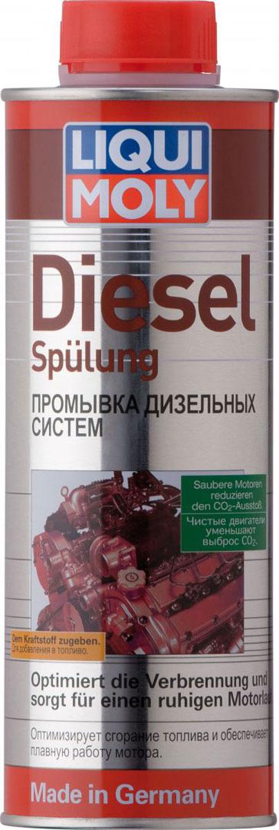 Промывка Liqui Moly Diesel Spulung, для дизельных систем, 0,5 л пятиминутная промывка двигателя liqui moly engine flush 300 мл