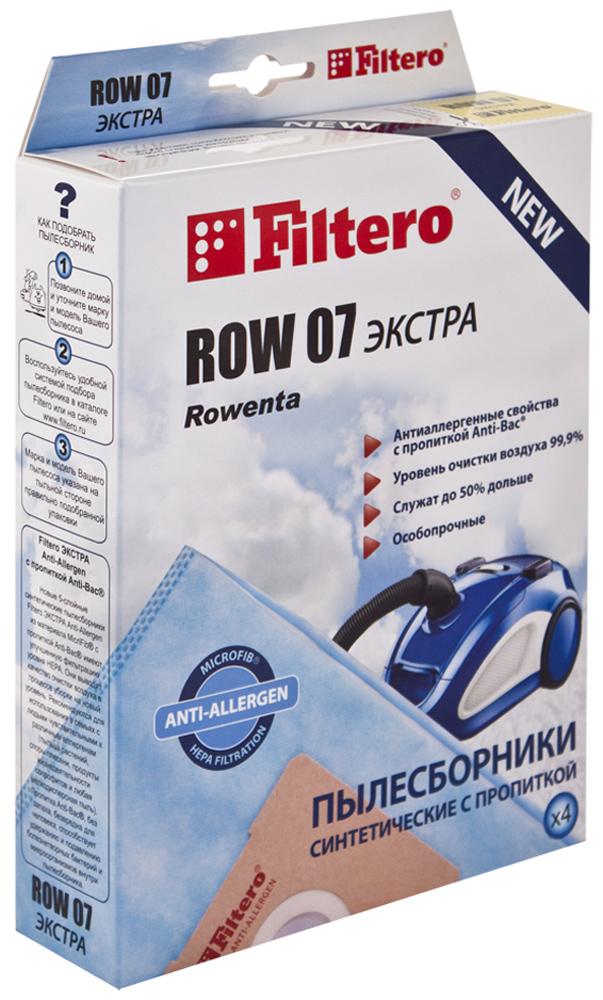 Filtero ROW 07 Экстра мешок-пылесборник для Rowenta, 4 шт filtero row 07 экстра мешок пылесборник для rowenta 4 шт