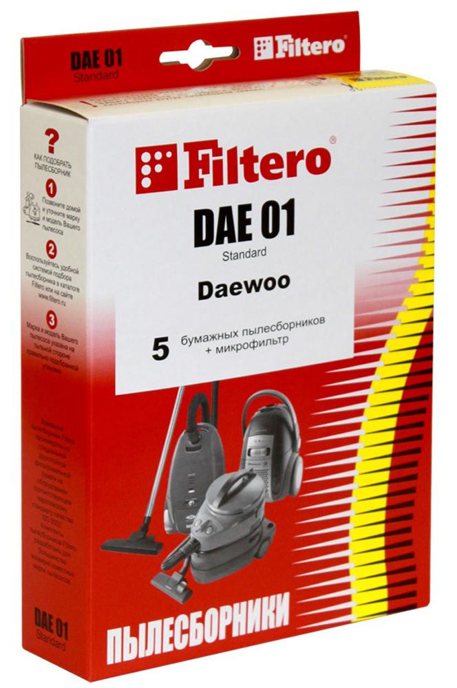 Filtero DAE 01 Standard мешок-пылесборник, 5 шт пылесборники filtero dae 03 standard двухслойные 5шт