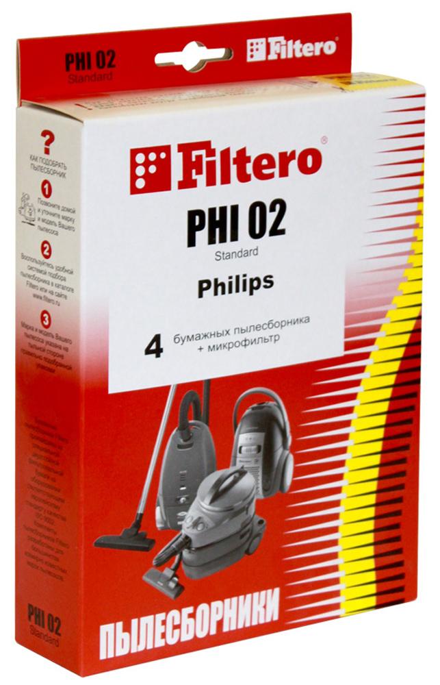 Filtero PHI 02 Standard мешок-пылесборник, 4 шт цена