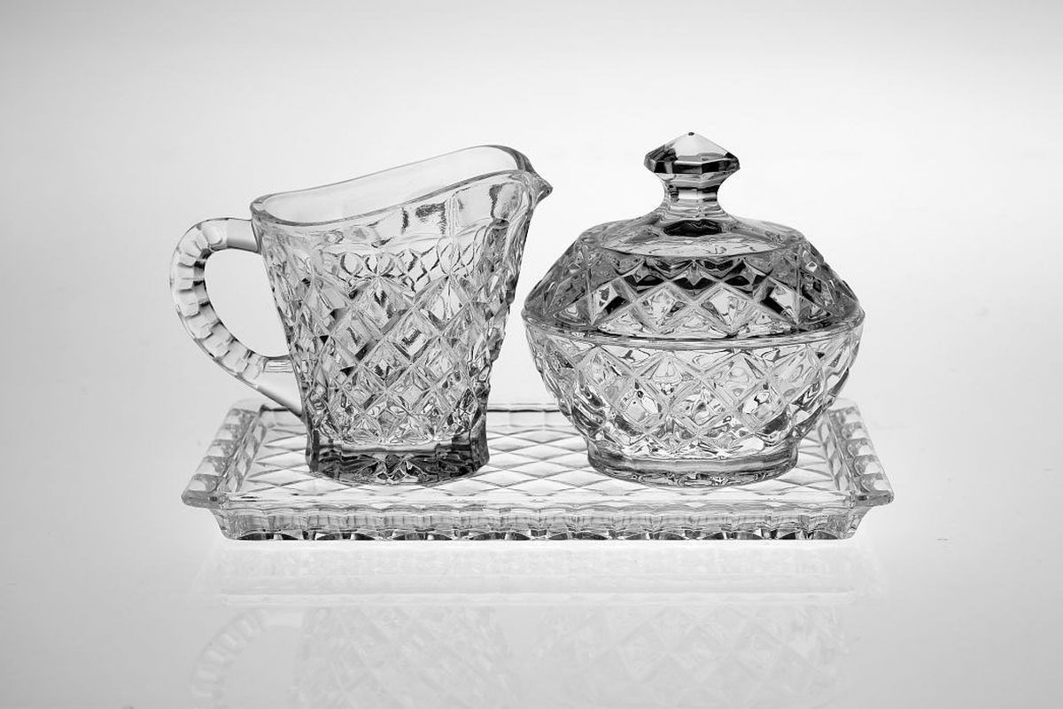 Набор Crystal Bohemia: поднос, молочник, сахарница bohemia ivele crystal бра bohemia ivele crystal 1610 3 gb