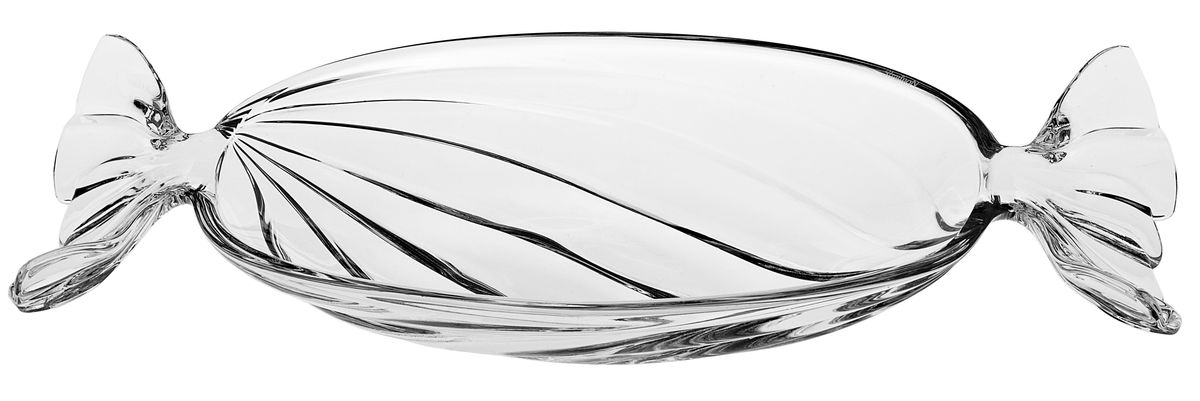 Салатник Crystal Bohemia Bonbon, длина 34,5 см салатник crystal bohemia x lady 29 х 29 см