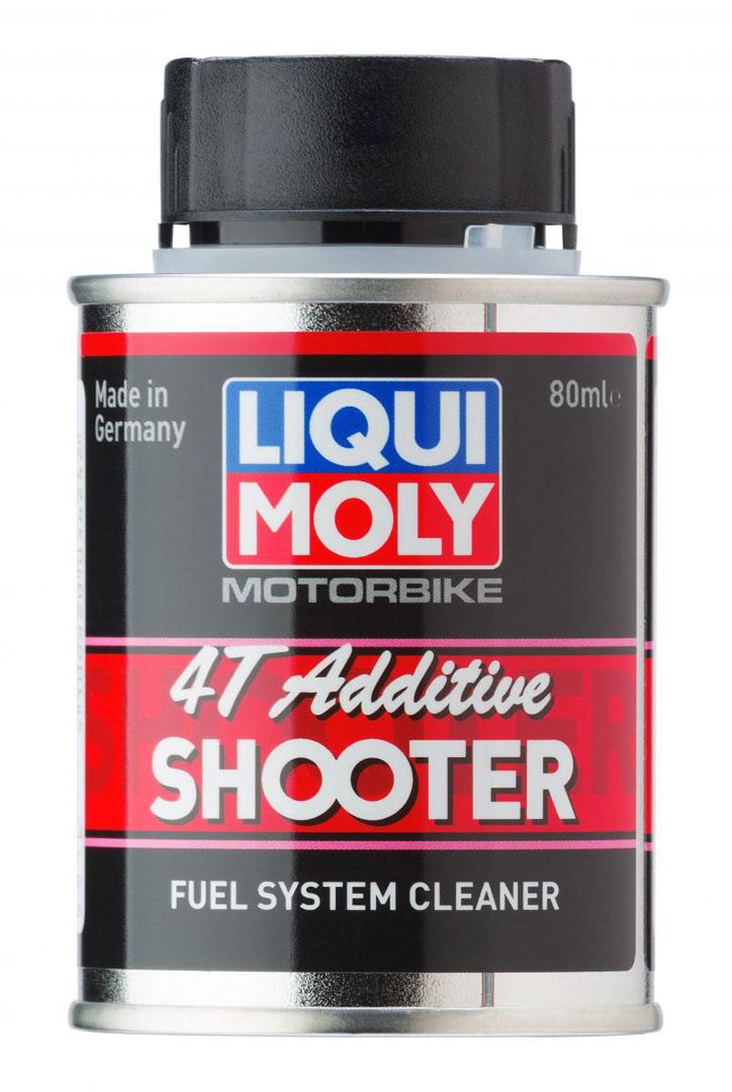Очиститель топливной системы LiquiMoly Motorbike 4T Additiv Shooter , 0,08 л стабилизатор бензина liquimoly motorbike benzin stabilisator 0 25 л