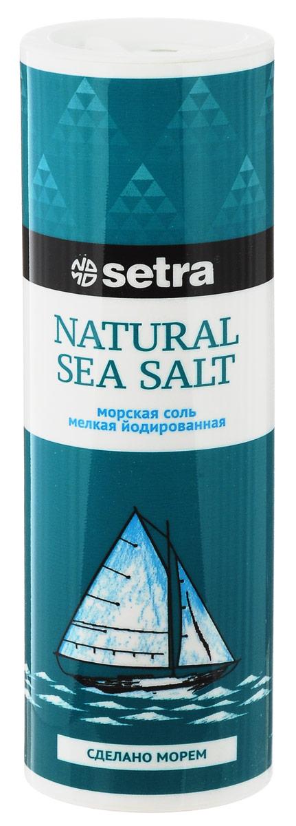 Setra соль морская мелкая йодированная, 250 г цена