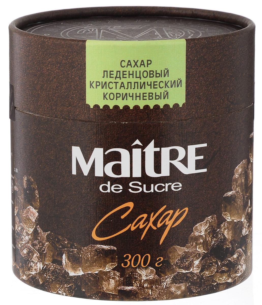 Maitre de Sucre сахар леденцовый коричневый кристаллический, 300 г