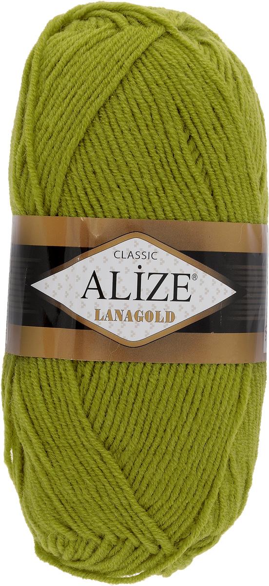 """Пряжа для вязания Alize """"Lanagold"""", цвет: хаки (193), 240 м, 100 г, 5 шт"""