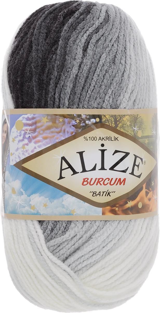 """Пряжа для вязания Alize """"Burсum Batik"""", цвет: белый, серый, черный (1900), 210 м, 100 г, 5 шт"""