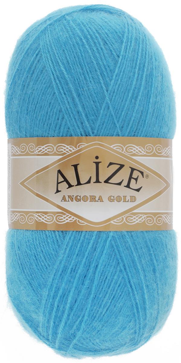 """Пряжа для вязания Alize """"Angora Gold"""", цвет: бирюзовый (245), 550 м, 100 г, 5 шт"""