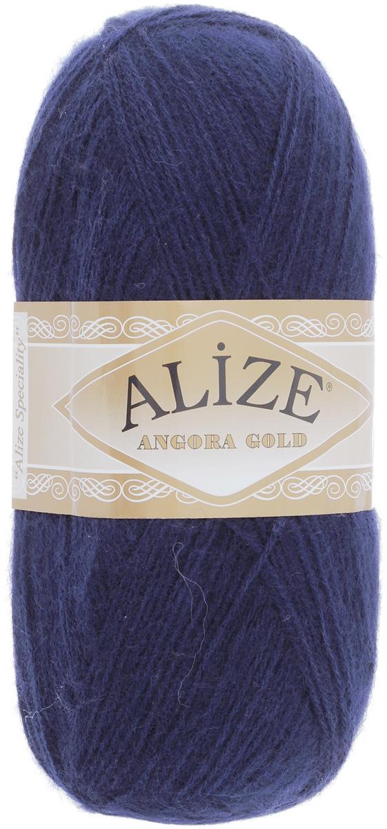 "Пряжа для вязания Alize ""Angora Gold"", цвет: темно-синий (58), 550 м, 100 г, 5 шт"