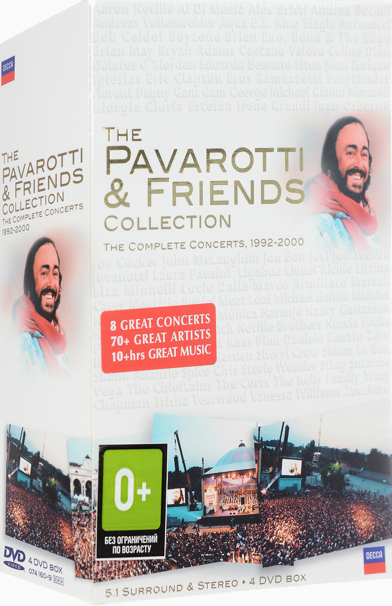 The Pavarotti & Friends Collection: The Complete Concerts, 1992-2000 (4 DVD) the complete peanuts 1985 to 1986
