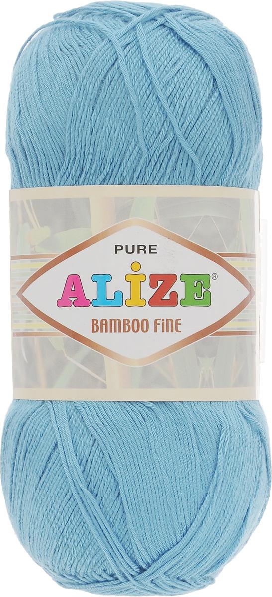 Пряжа для вязания Alize Bamboo Fine, цвет: светло-голубой (481), 440 м, 100 г, 5 шт пряжа для вязания alize bamboo fine цвет зеленый синий фиолетовый 3260 440 м 100 г 5 шт