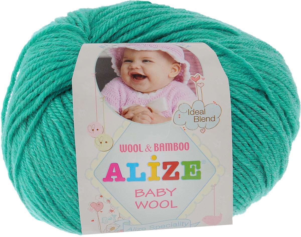 Пряжа для вязания Alize Baby Wool, цвет: карибский зеленый (610), 175 м, 50 г, 10 шт686501_610Детская пряжа для вязания Alize Baby Wool изготовлена из очень мягкой и высококачественной натуральной шерсти и бамбука. Из пряжи Baby Wool получается тонкий, но очень теплый трикотаж для ребенка. Акрил в составе нитей допускает легкую машинную стирку вещей. Цветовая палитра включает в себя комбинации, которые подходят как для мальчиков, так и для девочек. Рекомендуемый размер спиц: № 2,5-4 мм, Рекомендуемый размер крючка: № 1-3 мм. Комплектация: 10 мотков. Состав: 40% шерсть, 40% акрил, 20% бамбук.
