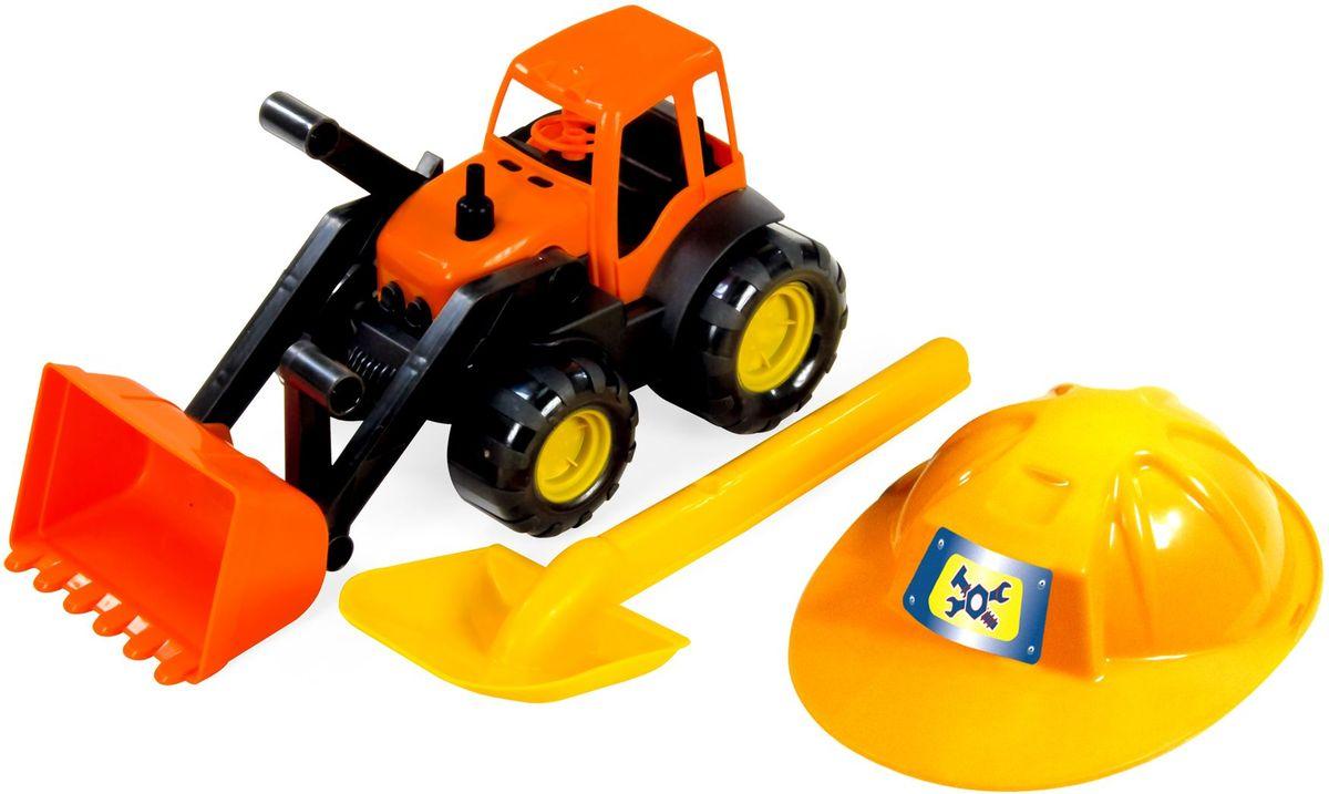 Zebratoys Трактор c каской и лопатой песочный набор zebratoys самосвал c каской и лопатой 3 предмета