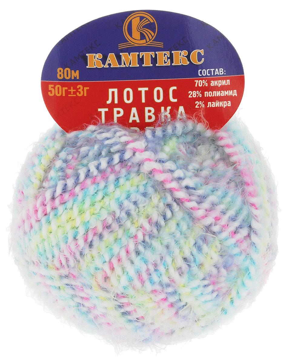 Пряжа для вязания Камтекс Лотос травка стрейч, цвет: бирюзовый, розовый, салатовый (239), 80 м, 50 г, 10 шт136081_169Пряжа для вязания Камтекс Лотос травка стрейч имеет интересный и необычный состав: 70% акрил, 28% полиамид, 2% лайкра. Акрил отвечает за мягкость, полиамид за прочность и формоустойчивость, а лайкра делает полотно необыкновенно эластичным. Эта волшебная плюшевая ниточка удивляет своей мягкостью, вяжется очень просто и быстро, ворсинки не путаются. Из этой пряжи получатся замечательные мягкие игрушки, которые будут не только приятны, но и абсолютно безопасны для маленьких детей. А яркие и сочные оттенки подарят ребенку радость и хорошее настроение. Рекомендуемый размер крючка и спиц: №3-6. Состав: 70% акрил, 28% полиамид, 2% лайкра.