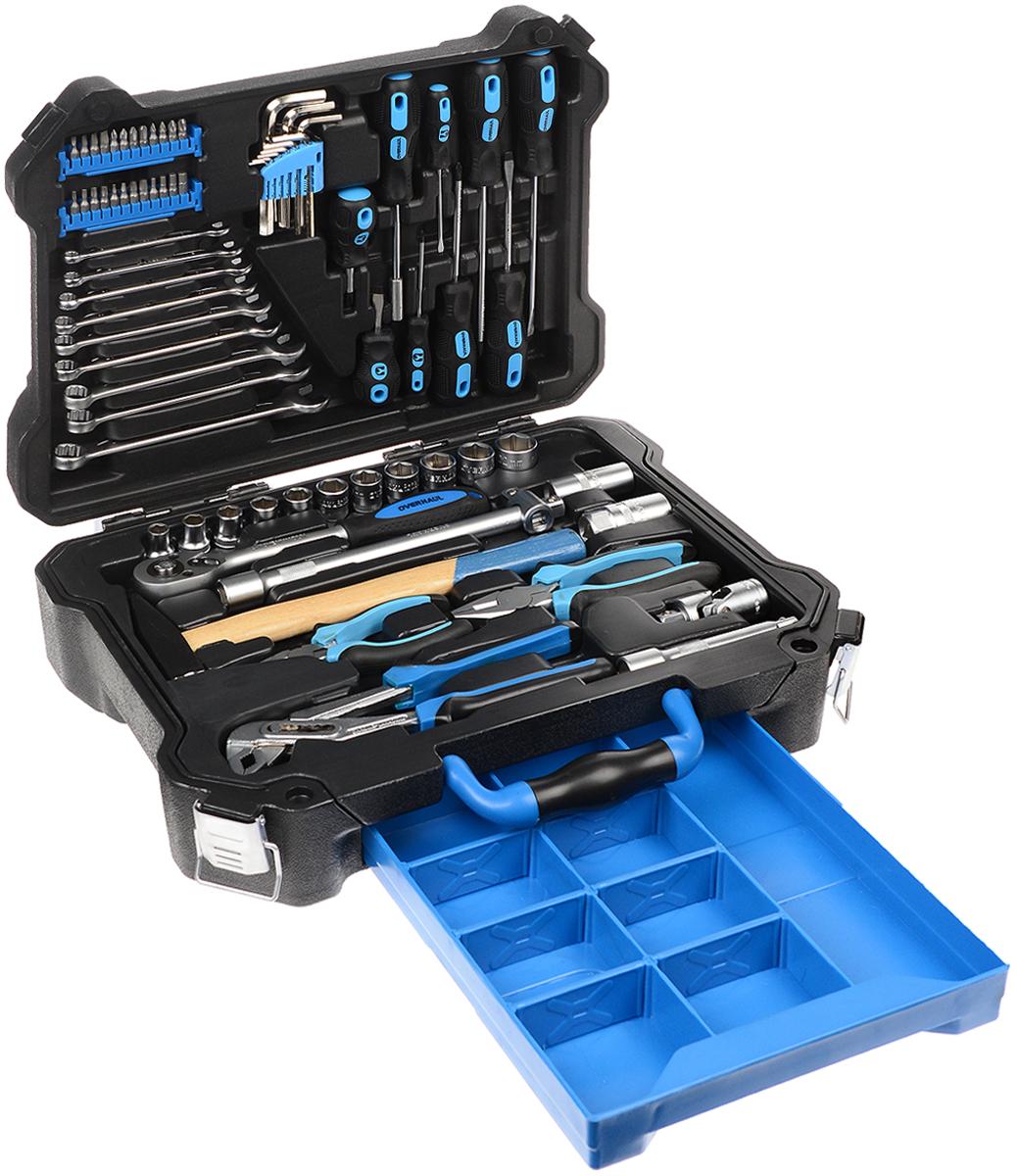 Набор инструментов для автомобиля Overhaul, 73 предмета отвертка aist 800202 сборная 2 в 1 sl6 0 x ph 2 х 63мм