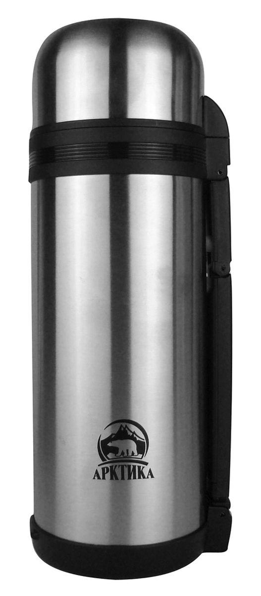 """Термос """"Арктика"""", с чашей, цвет: серебристый, черный, 1,8 л"""