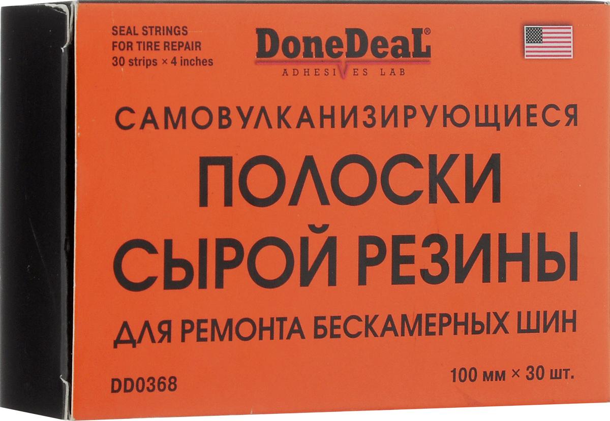 Резиновые жгуты для ремонта шин Done Deal, самовулканизирующиеся, 10 см, 30 шт набор для ремонта бескамерных шин done deal dd 0328