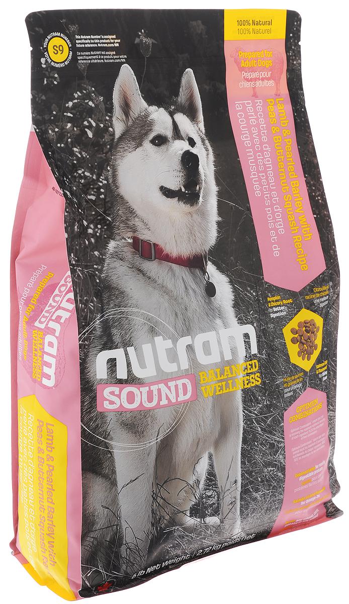 Корм сухой Nutram Sound Balanced Wellness S9 для взрослых собак, с ягненком, перловкой, горохом и тыквой, 2,72 кг корм сухой nutram sound balanced wellness s7 для взрослых собак мелких пород с перловкой горохом и тыквой 2 72 кг