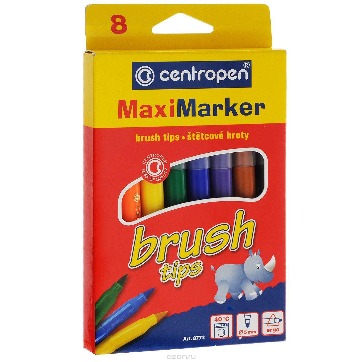 Набор смываемых маркеров Brush, 8 цветов carioca набор смываемых восковых карандашей baby 8 цветов