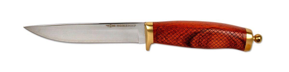 Нож-финка Ножемир, с ножнами, общая длина 24,5 см нож нескладной ножемир кардинал с ножнами длина клинка 15 1 см