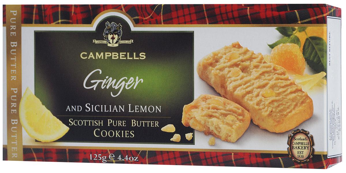 Campbells Pure Butter печенье с лимоном и имбирем, 125 г
